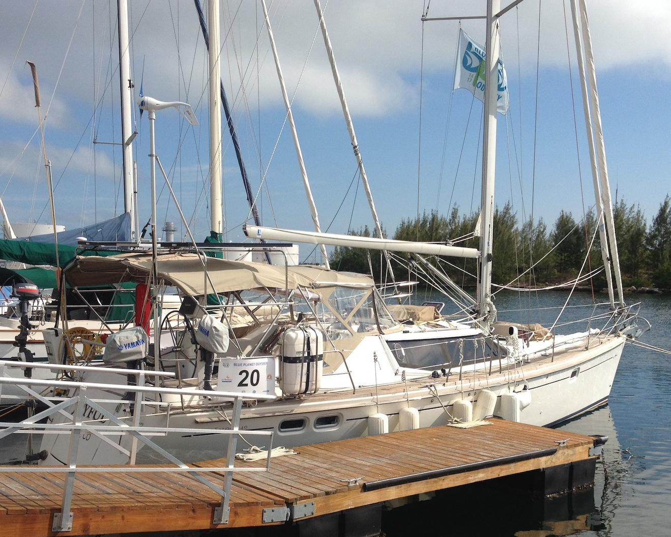 19. Joyful starboard side view at Key West.