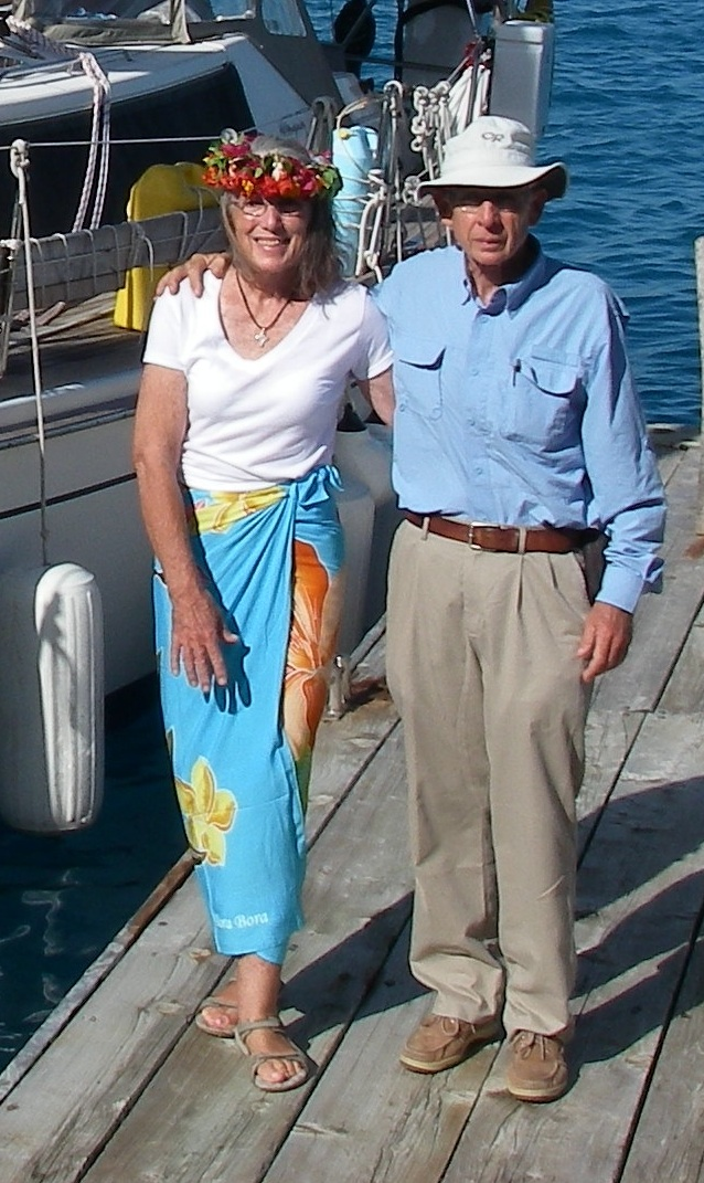 2. Anne &  Jeff were happy to get to know Bora Bora.