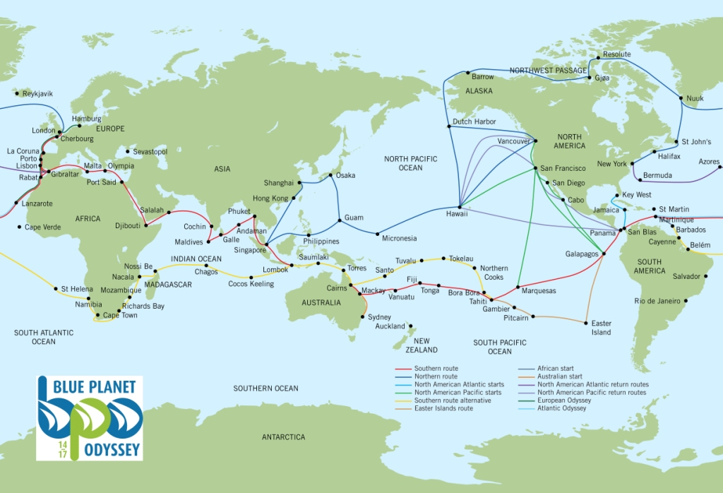 3. BPO route map (some destinations have changed).