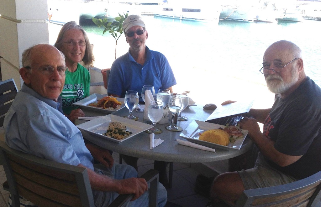 3. Jeff, Anne, Bill, Ruud at Shelter Bay Panama, before Ruud had to catch a plane back to the United States for a prior commitment.