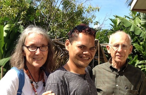 36. Emmanuel who is the Chief of the Office of Tourism in Nuku Hiva, Jeff, and Anne became friends while in Nuku Hiva.