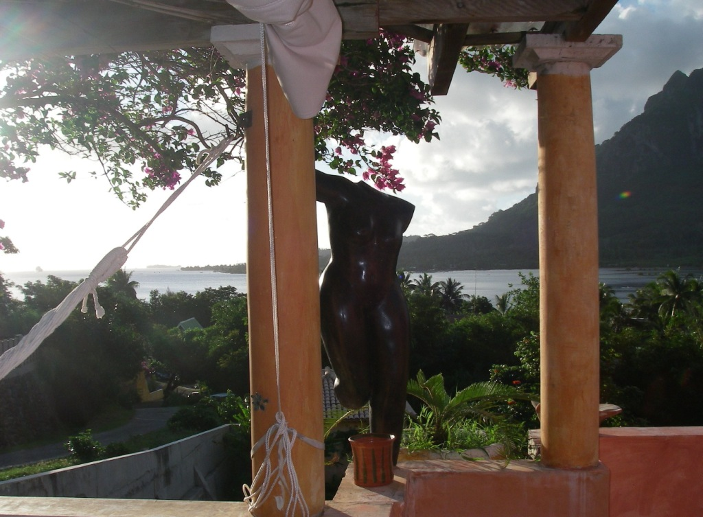42. We enjoyed the views from our verranda at Garrick's villa in Bora Bora day or night.  Staying there was like a wonderful dream because of the ambiance of the architecture, natural beauty, Garrick's artwork, and his warm personality. Merci Garrick!