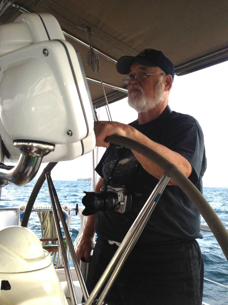 45. Flat Mr. Davis gave Bill the helm on Lake Gatun in the morning.