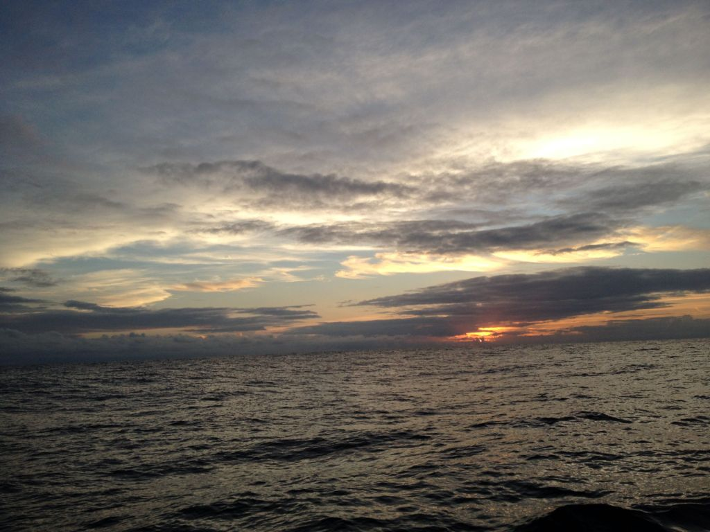 54. One of countless extraordinary sunsets at sea.  Anne had the watch during sunset, which always was a delight to her.