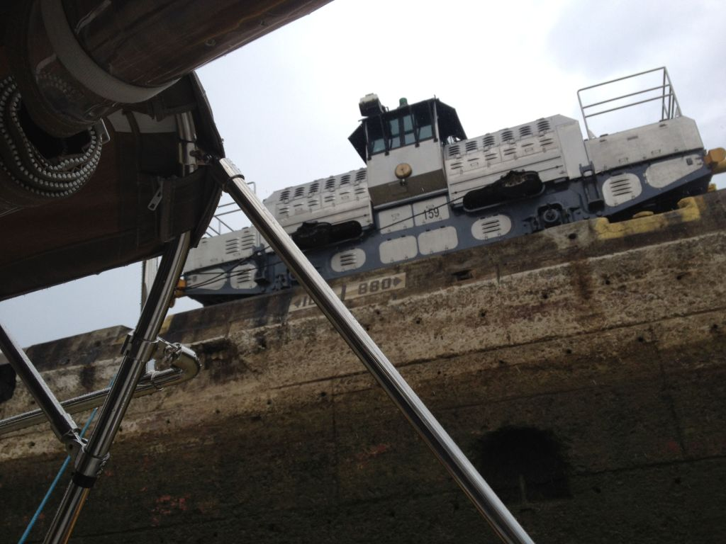 59.  There were many machines that controled large ships in the locks.