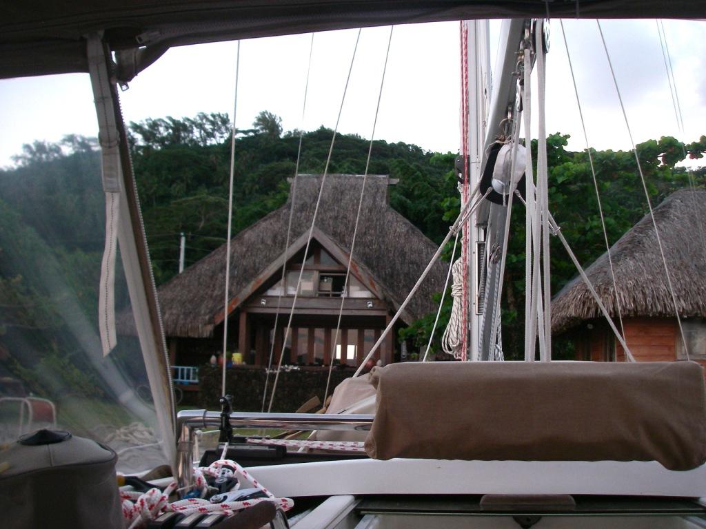 9. Joyful at Teiva's gorgeous traditional Polynesian house.