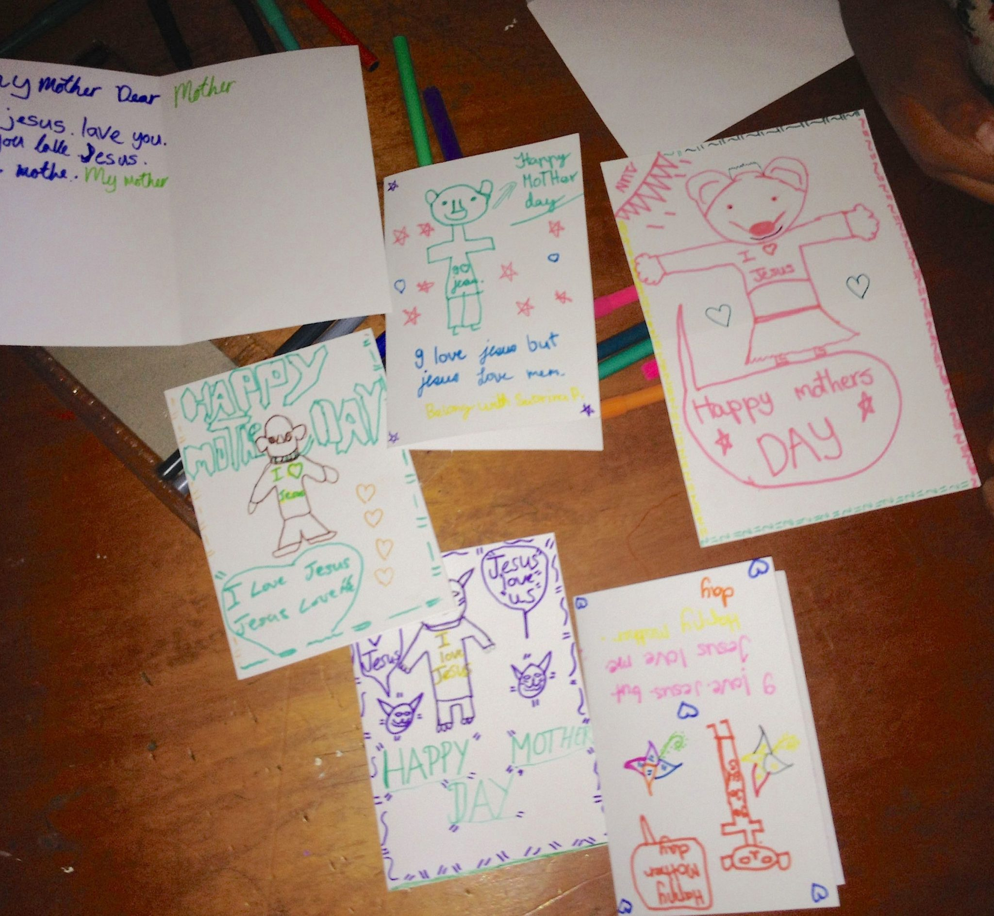 149. A few awesome cards the students made to give to someone, demonstrating their willingness to obey Jesus' most important commandments, to love your God and your neighbor as yourself