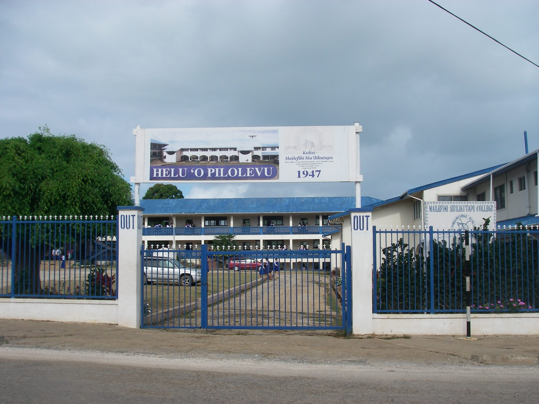 150. This is the Mailefihi Siu'ilikutapu College, which is a Wesleyan Methodist Church's high school in Neiafu, Vava'u, where I taught fine art, drawing, and how to use God's gift of art to at risk senior boys and girls