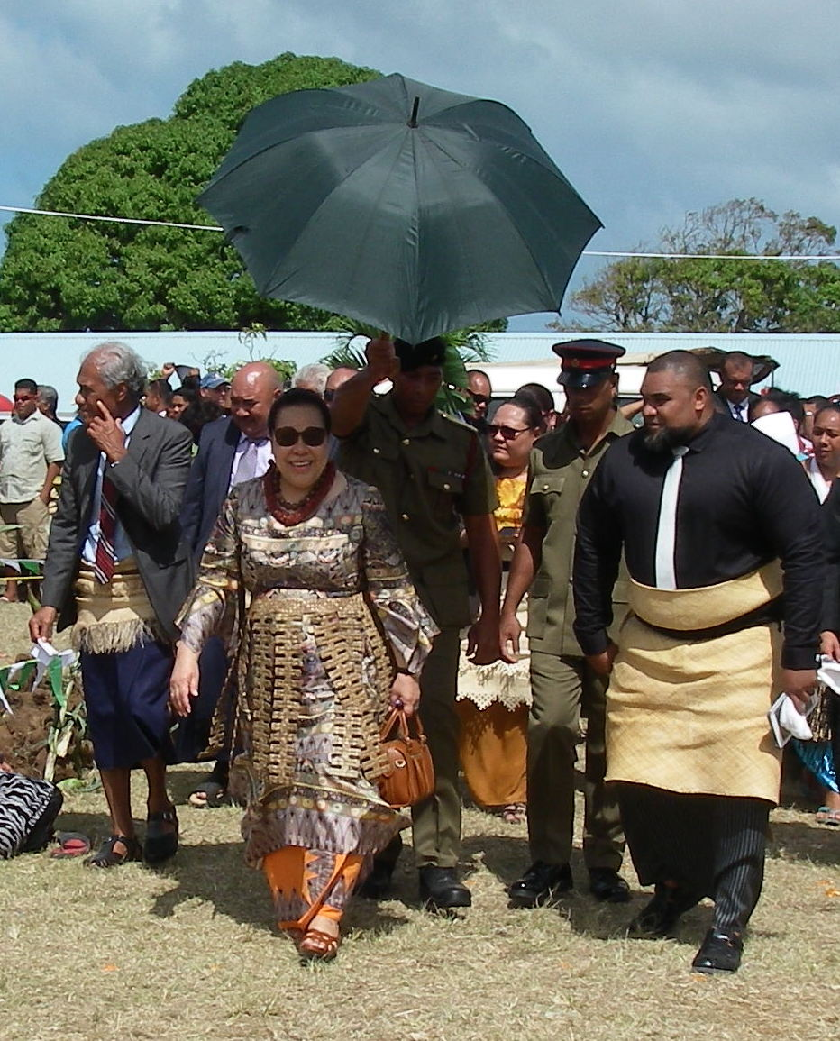 17. The Queen of Tonga and her entourage enjoyed the bounty of their country, and the loyalty of their subjects.
