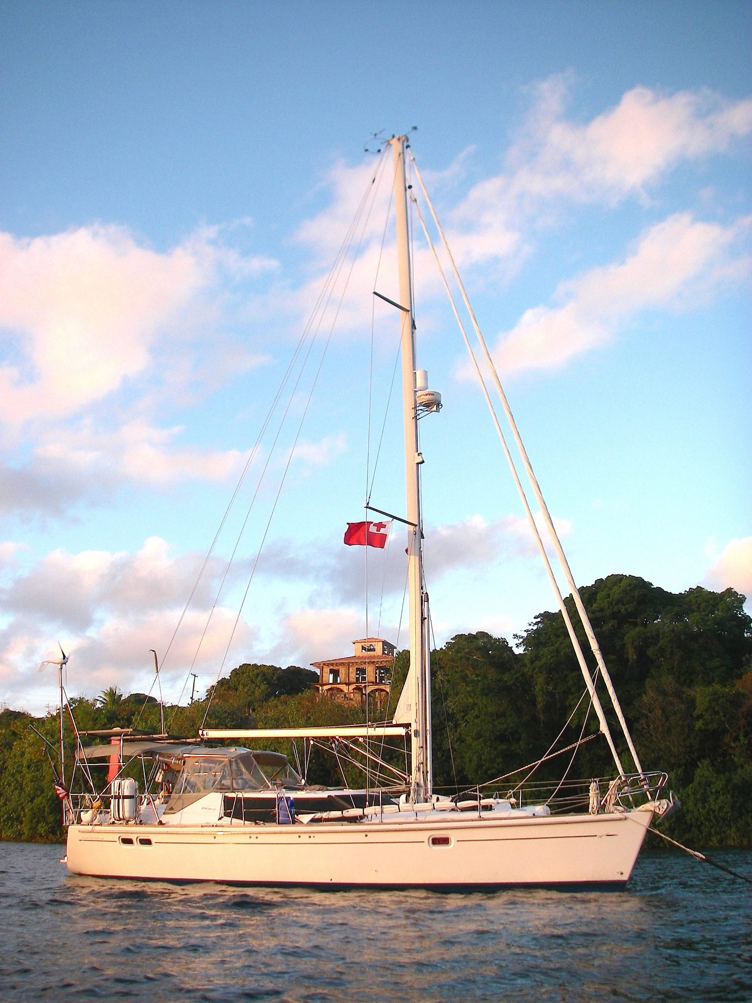 20. Joyful at sunset moored in Neiafu, Vava'u, Tonga