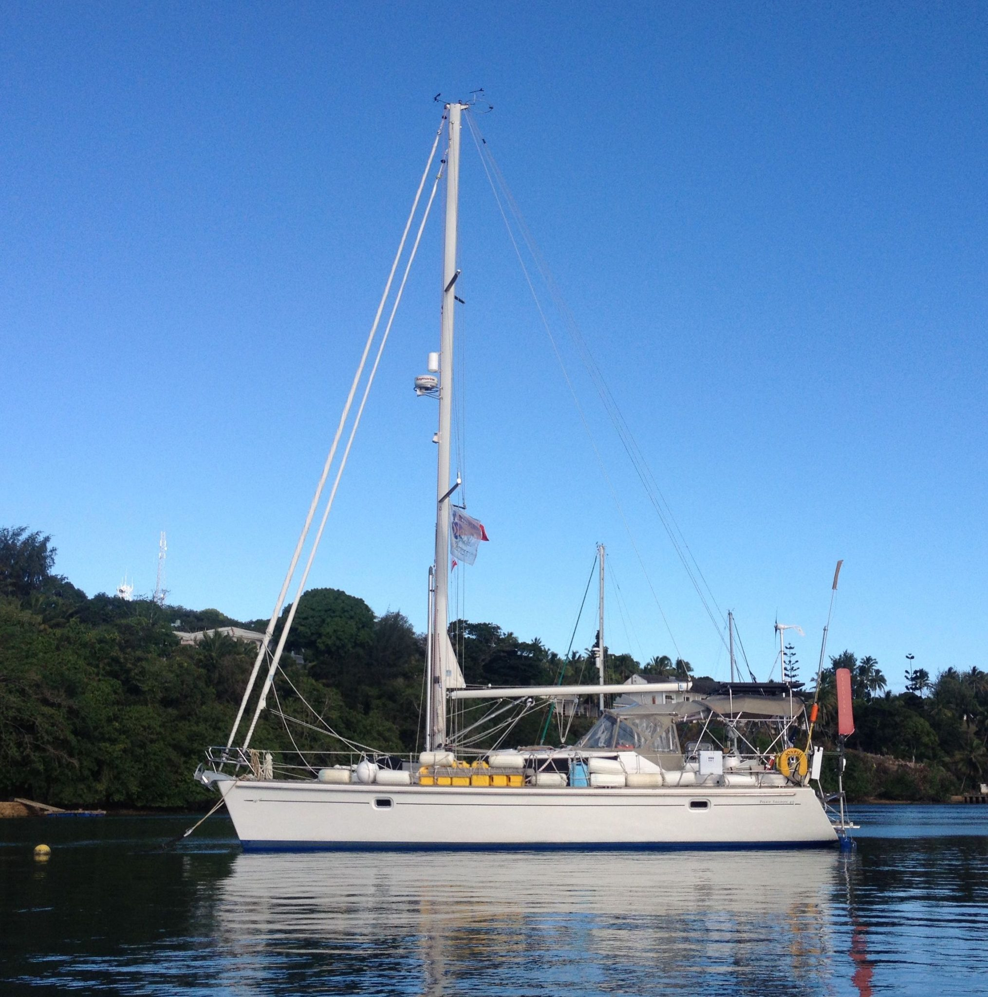 21. Joyful at her mooring in Vava'u, Tonga