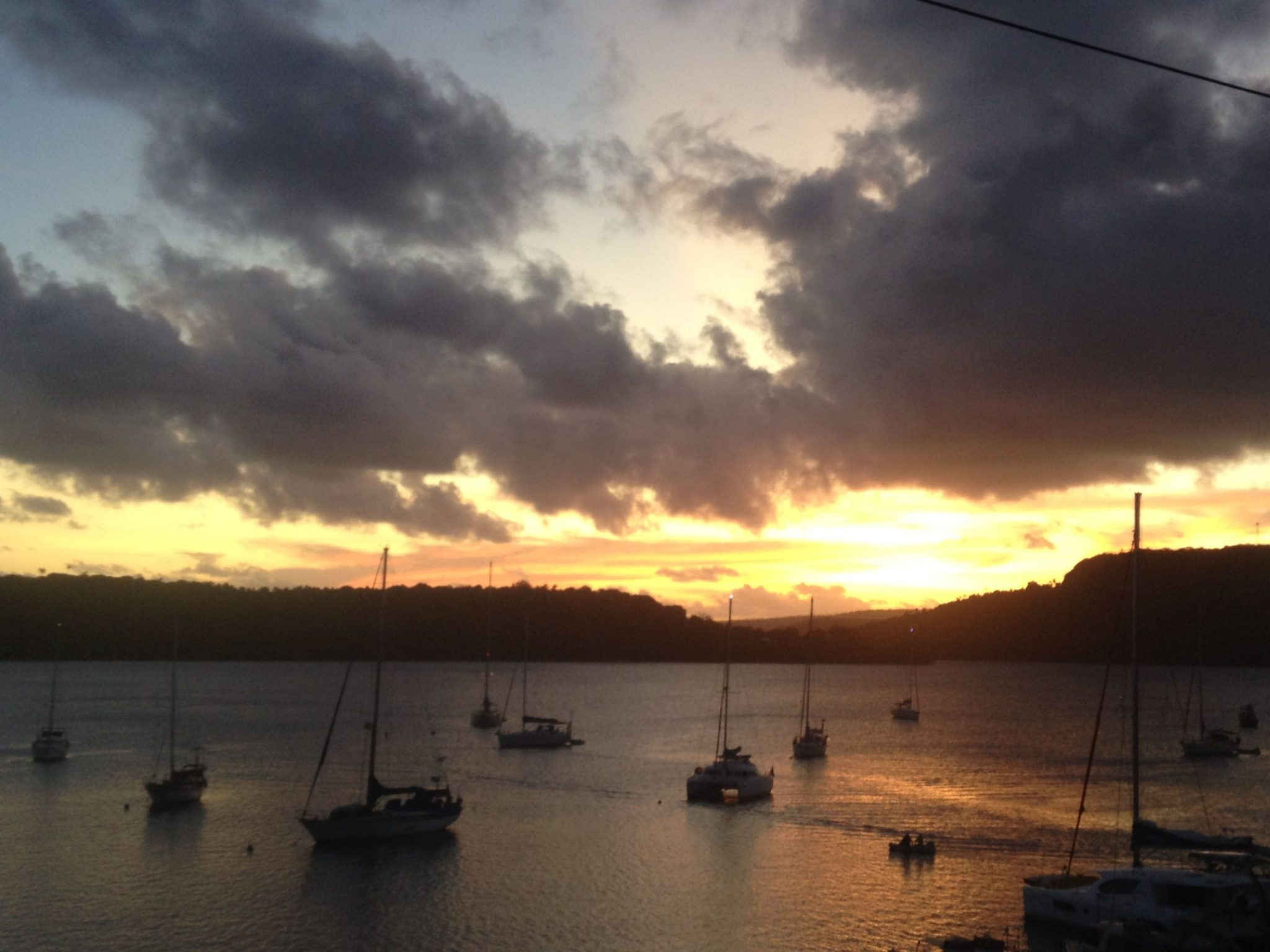 24. An amazing sunset over Neiafu harbor