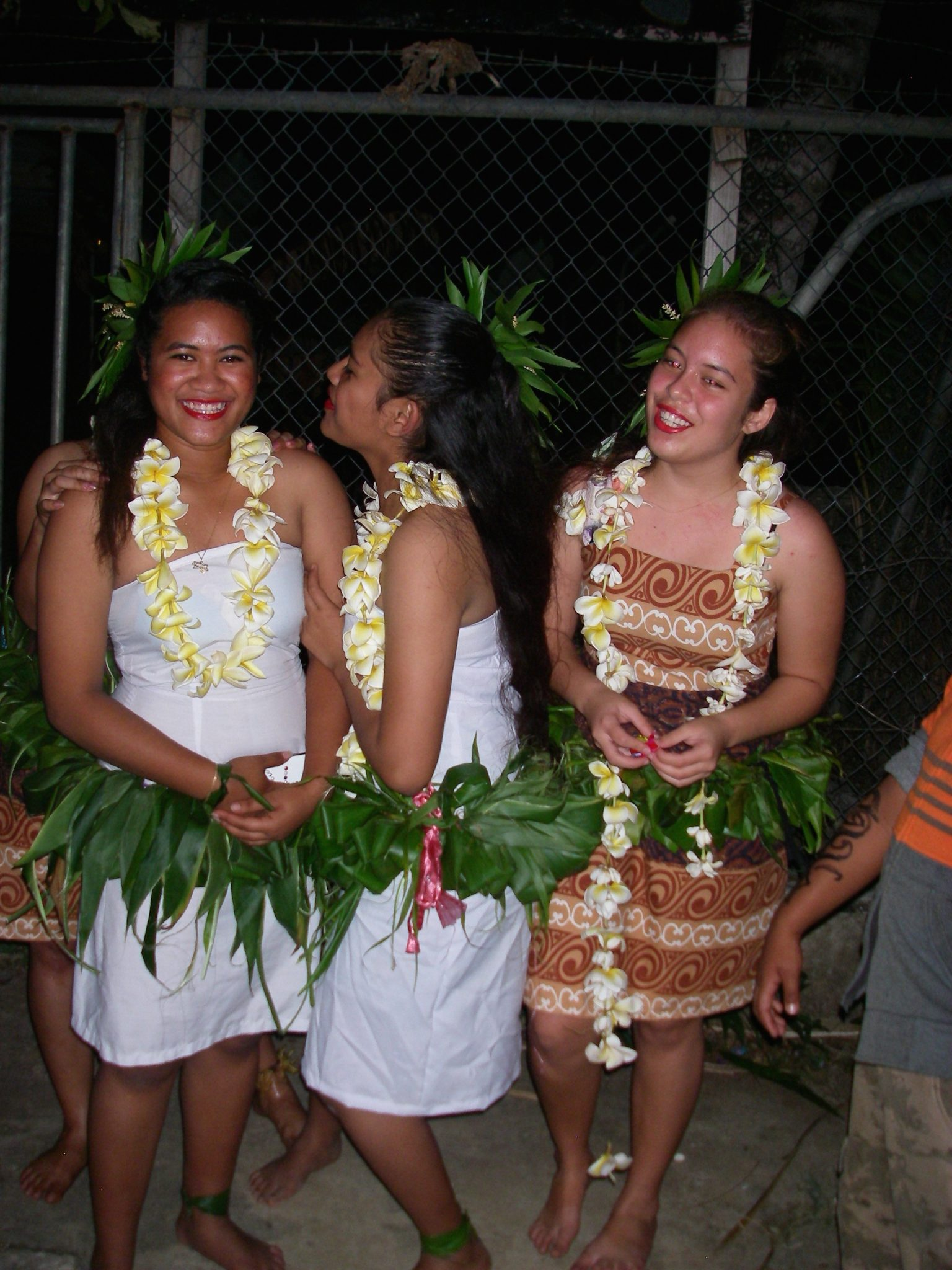 29. Pretty Tongan young ladies demonstrated traditional dancing at a festival
