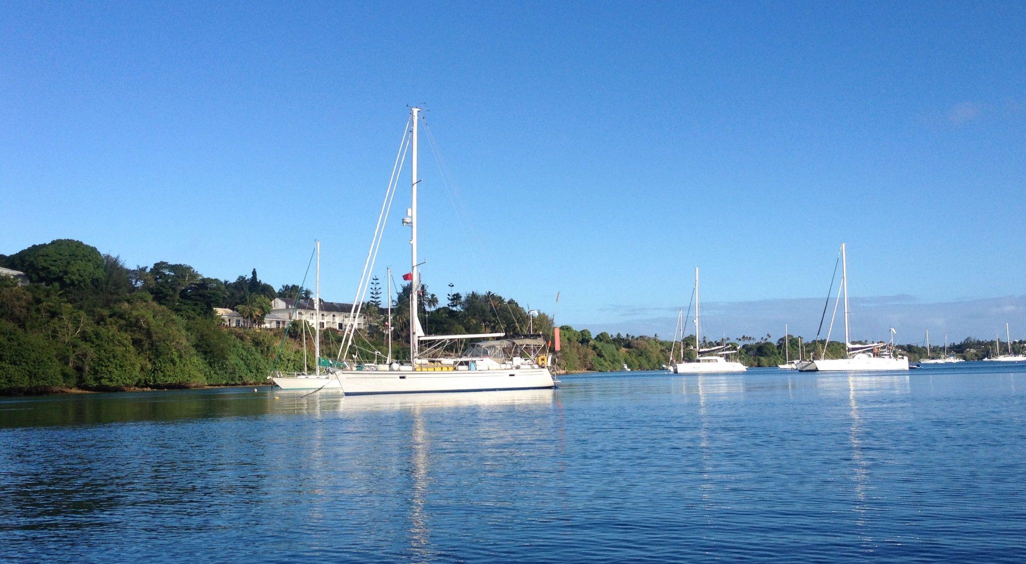 62. Joyful at her peaceful mooring in Vava'u, Tonga