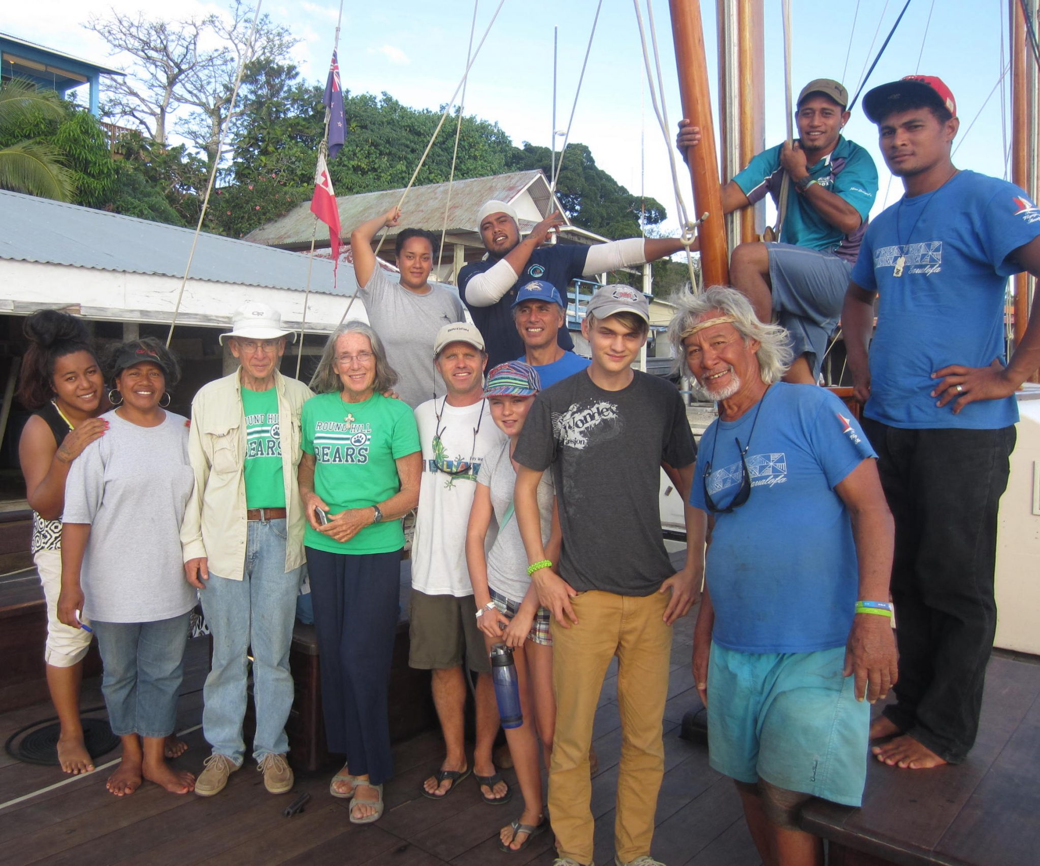 88. Sailors for Christ and the crew of the Vaka pose together after a memorable sail
