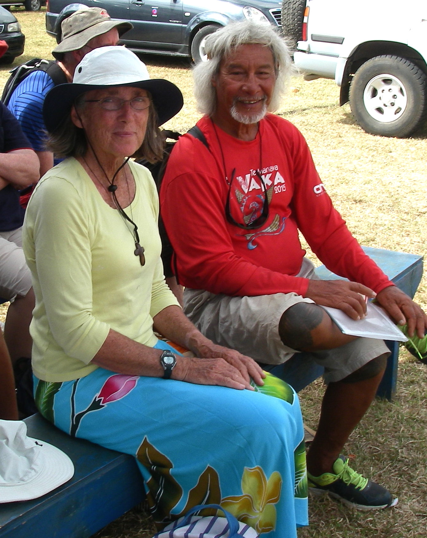 91. Mailagi and Anne at the Agricultural Show in Tonga