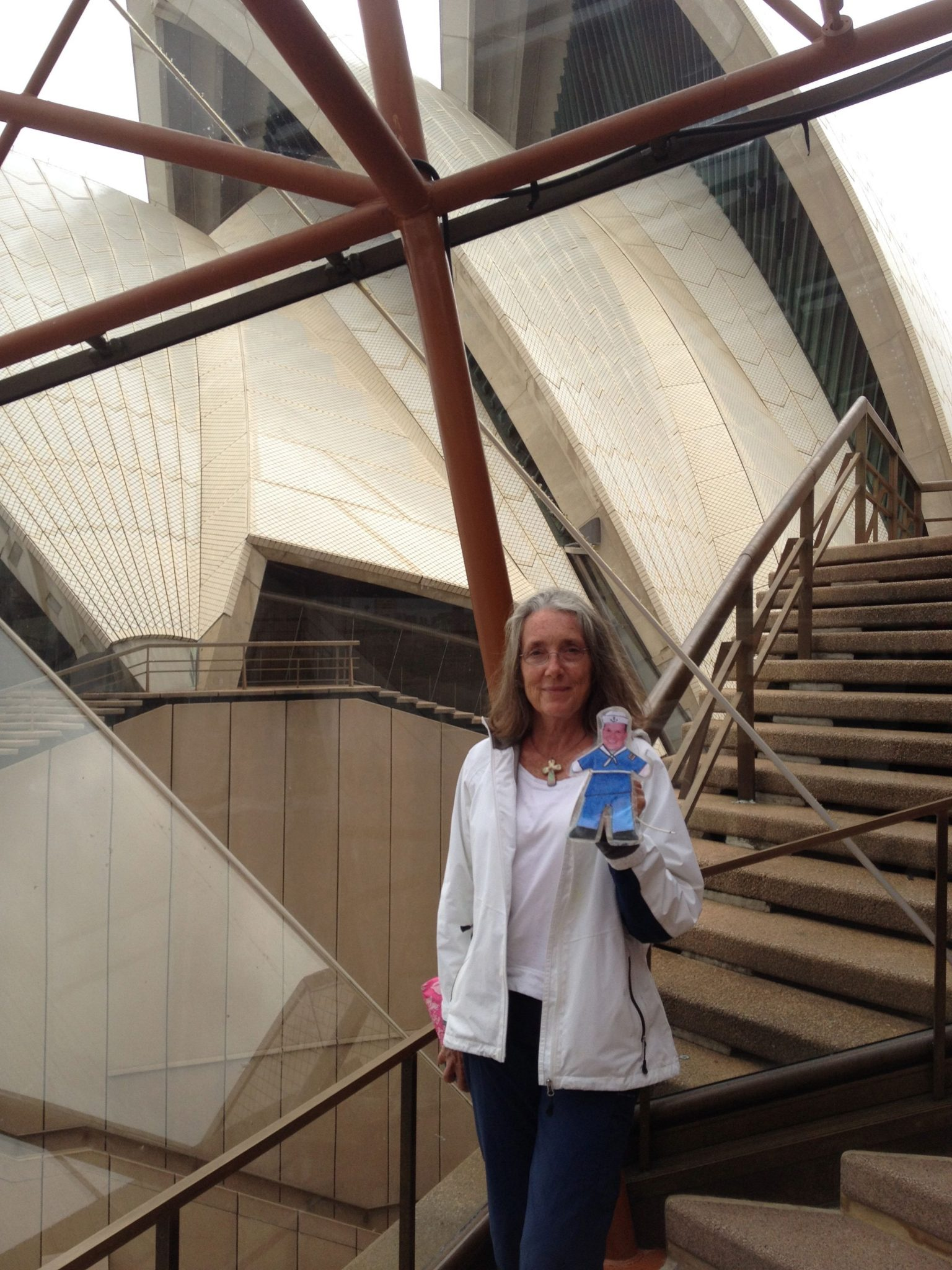 109. Flat Mr. Davis and Anne at the Sydney Opera House