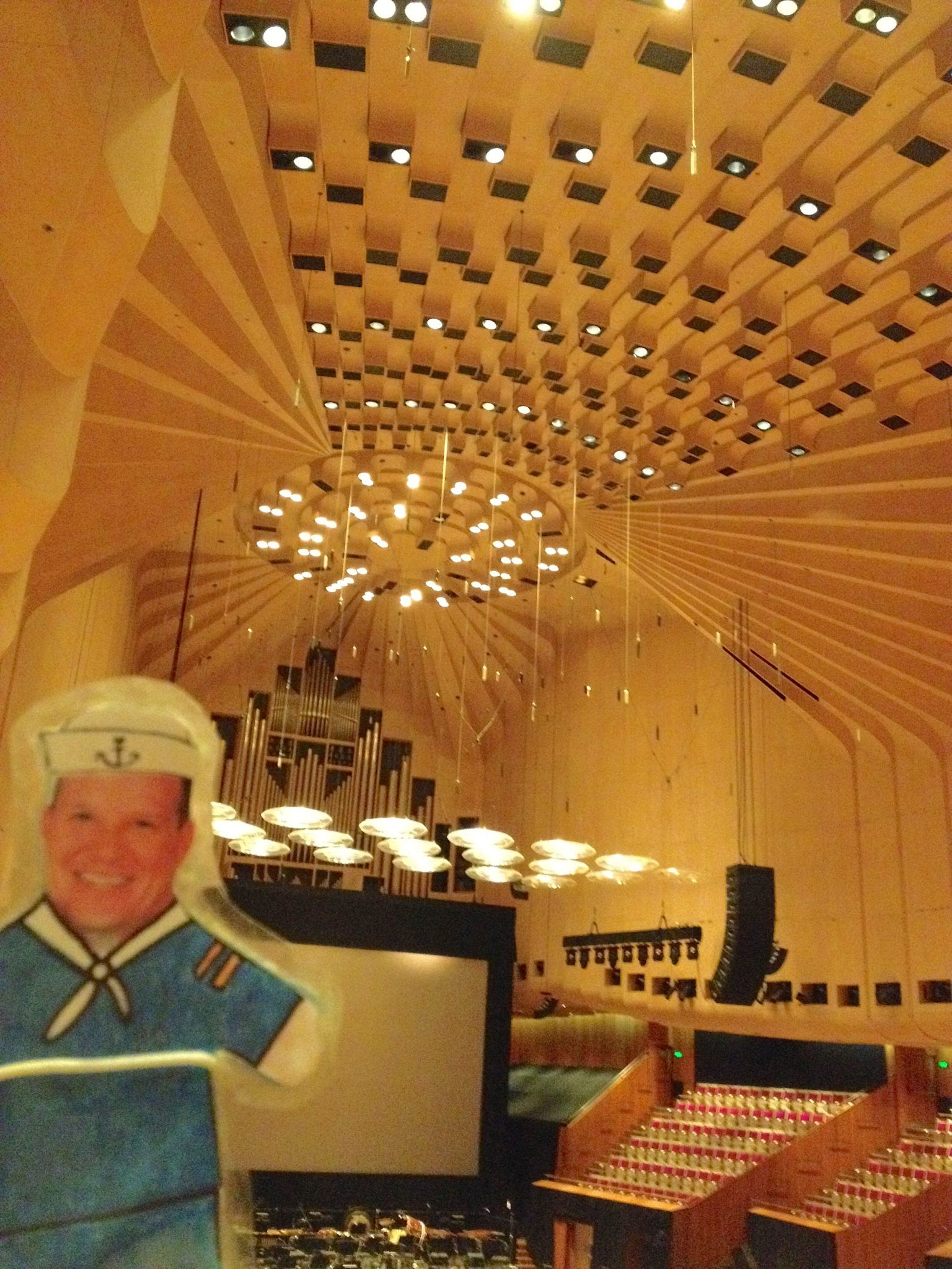 111. Flat Mr. Davis was intrigued with the architectural elements insuriing superior acoustics in the concert hall
