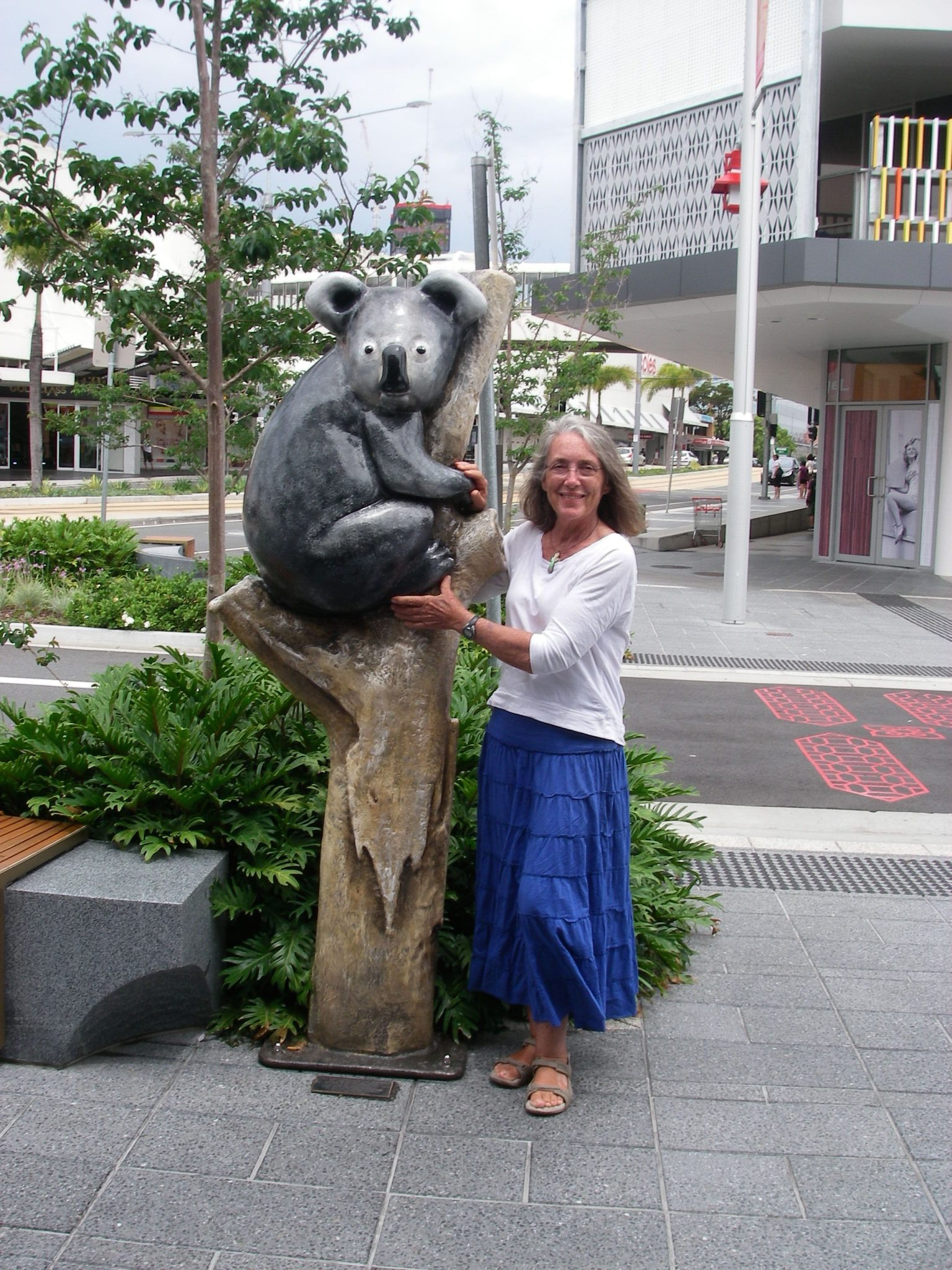 31. Anne and her koala friend in Southport, Australia