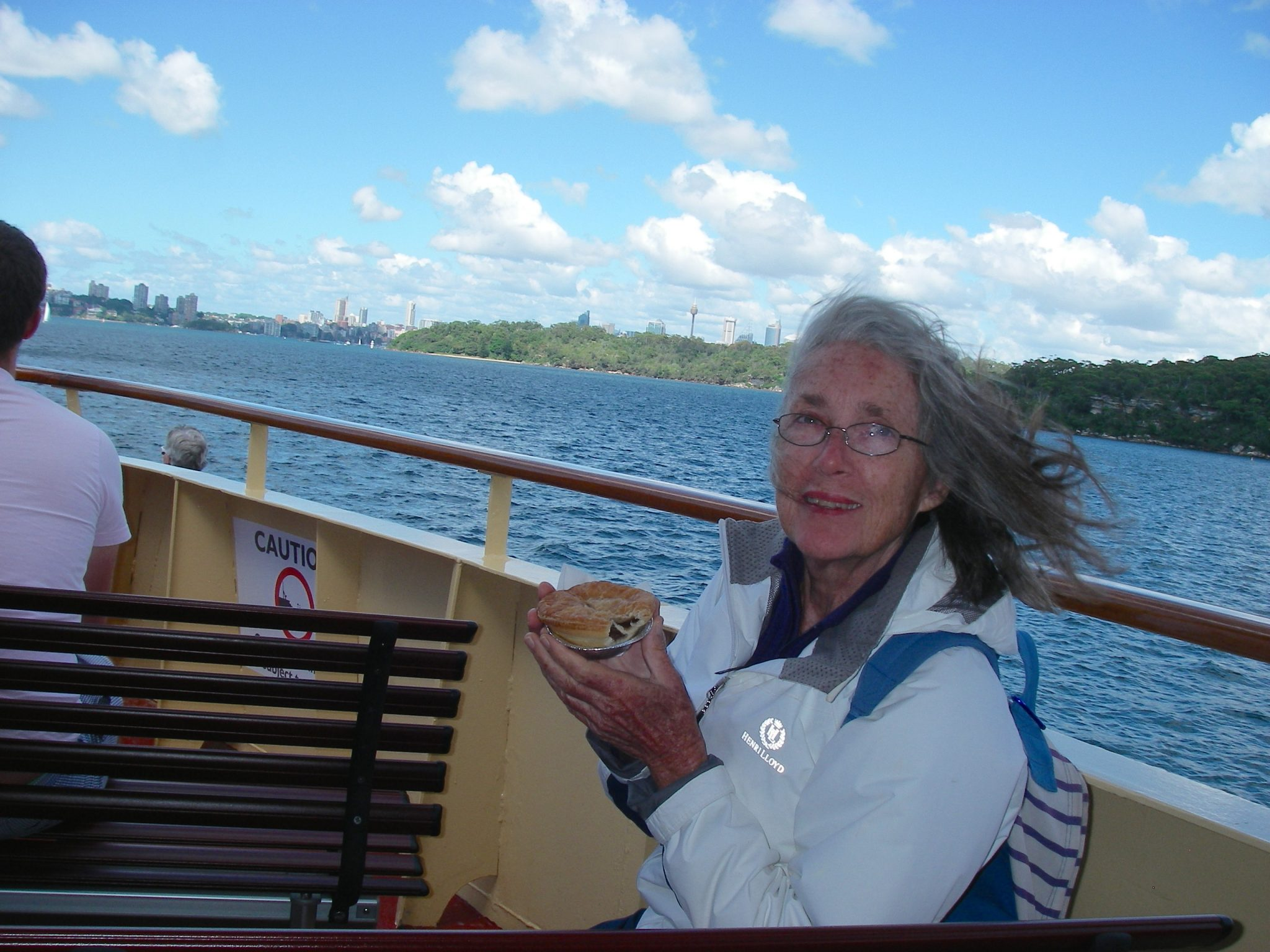 38.1. Many times we went to Sydney, traveling there by a water taxi from Joyful to the mainland of Church Point, then we walked to a bus, then got on a ferry boat, then we were there! H