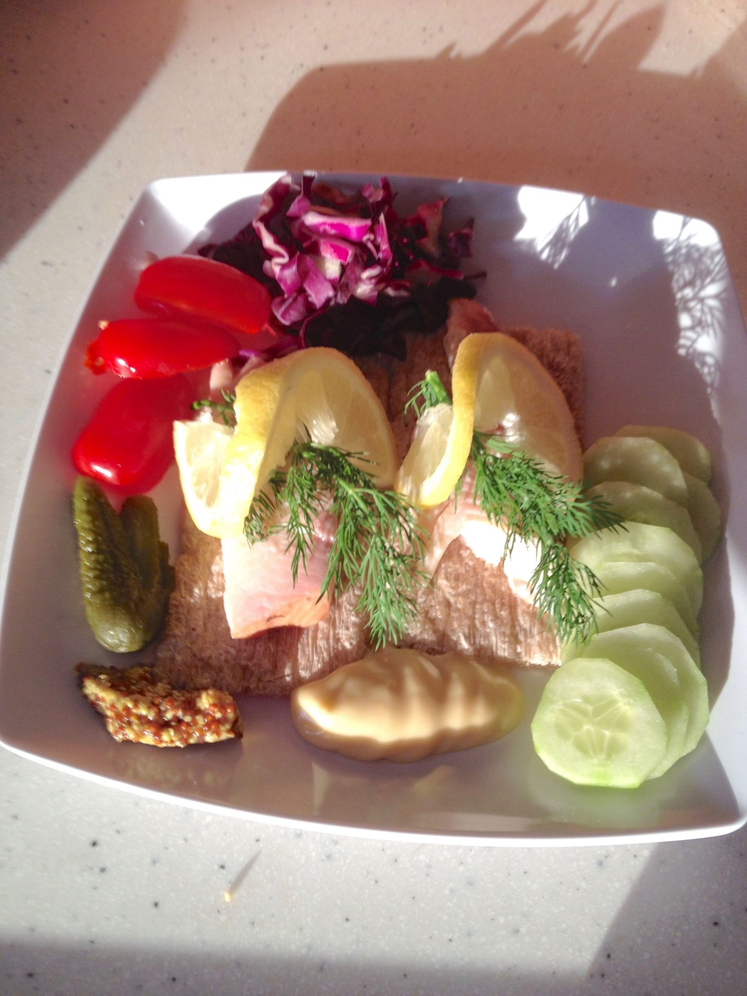 4. Sometimes I cooked salmon for dinner