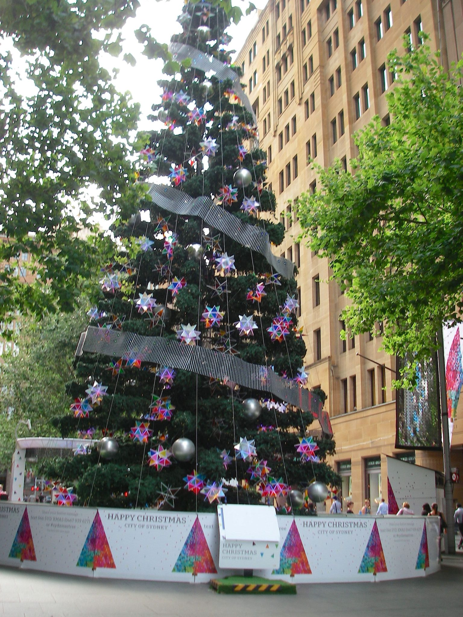 43.1. One of the many Christmas trees the City of Sydney displayed to bring joy to locals and visitors