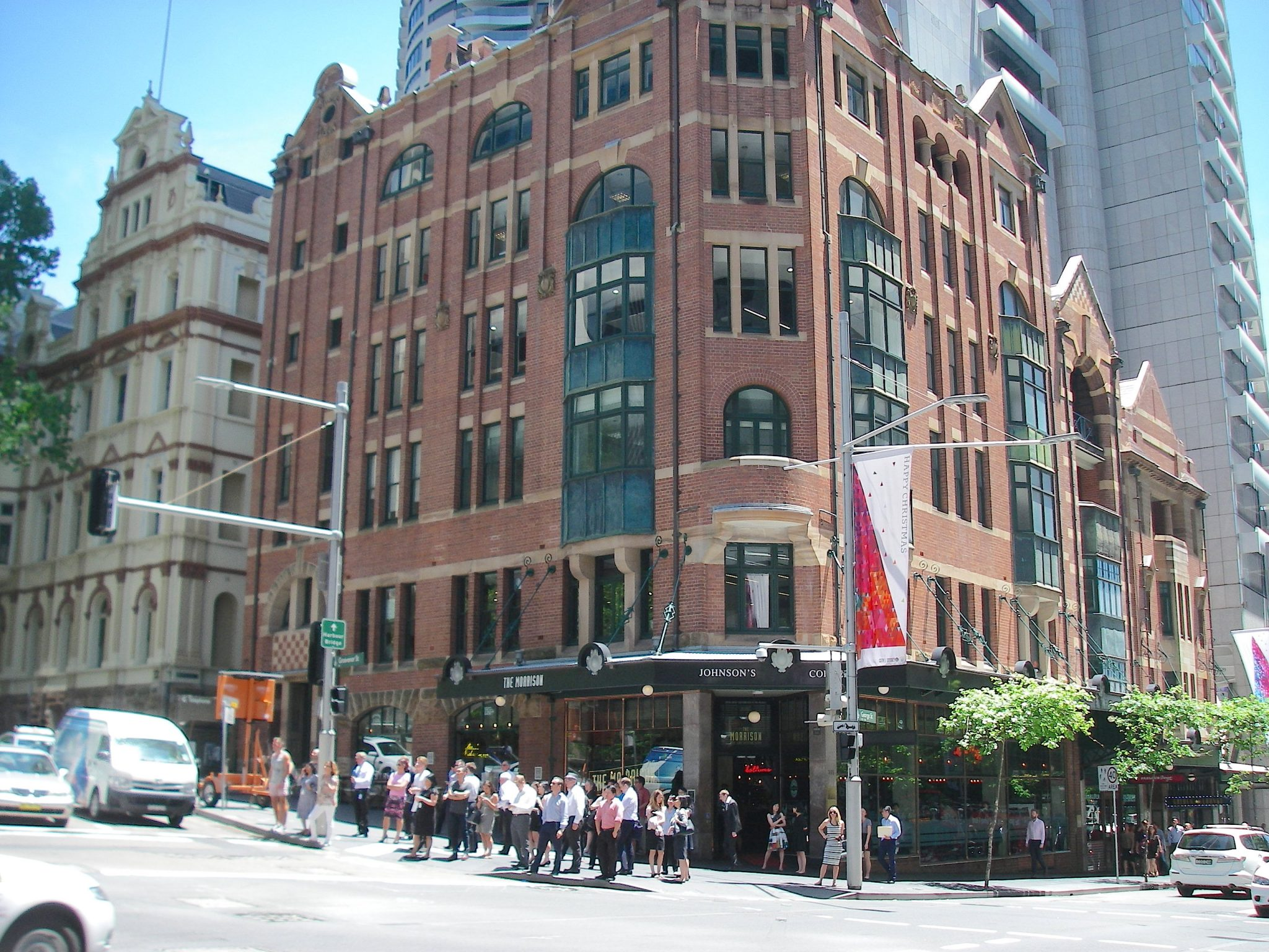45.1. Christmas banners flew along the central business district in downtown Sydney