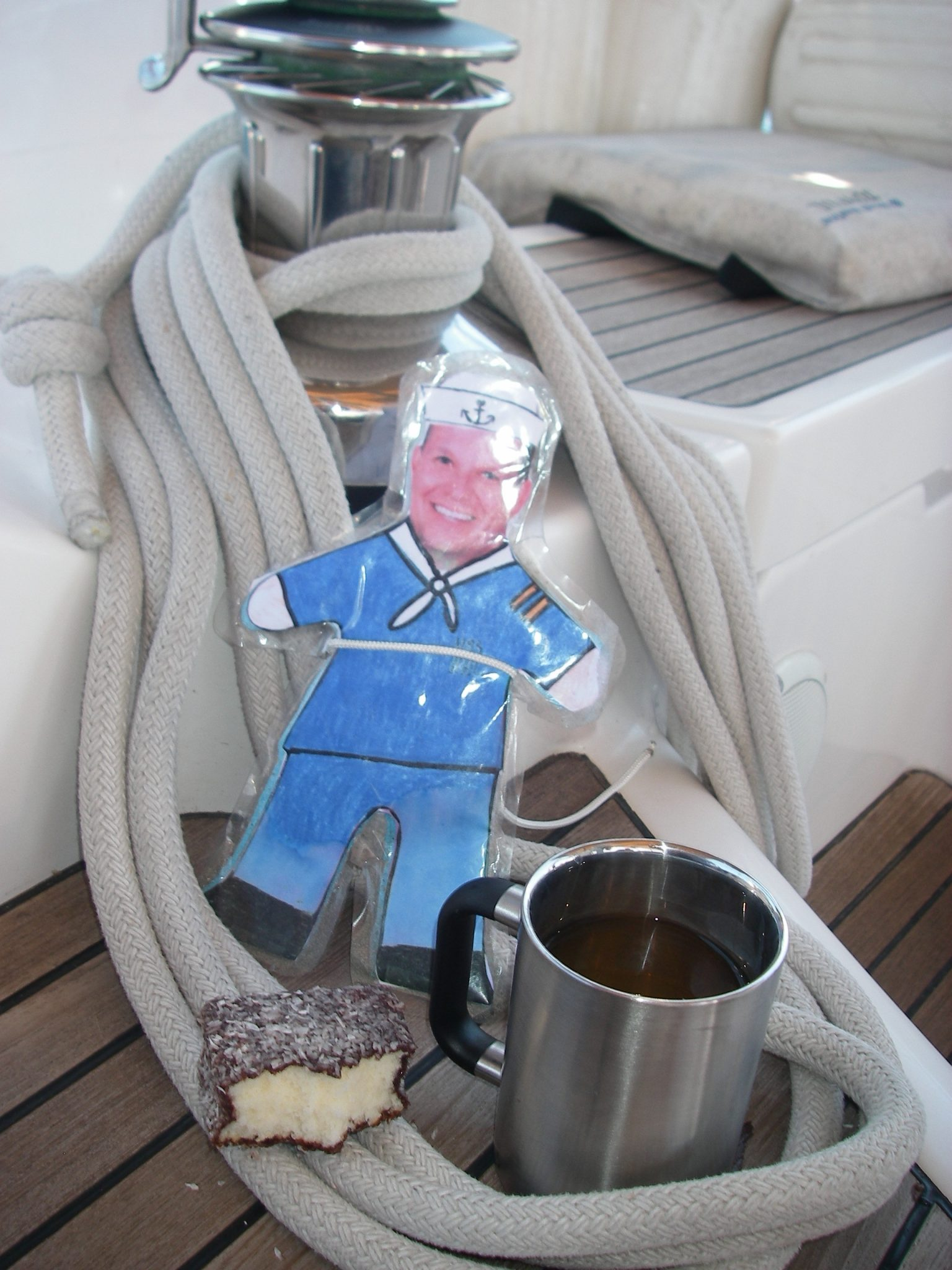 "57. Flat Mr. Davis enjoyed ""elevenses"" every morning. Today he ate Australian Lamingtons with his lapsang souchong tea"