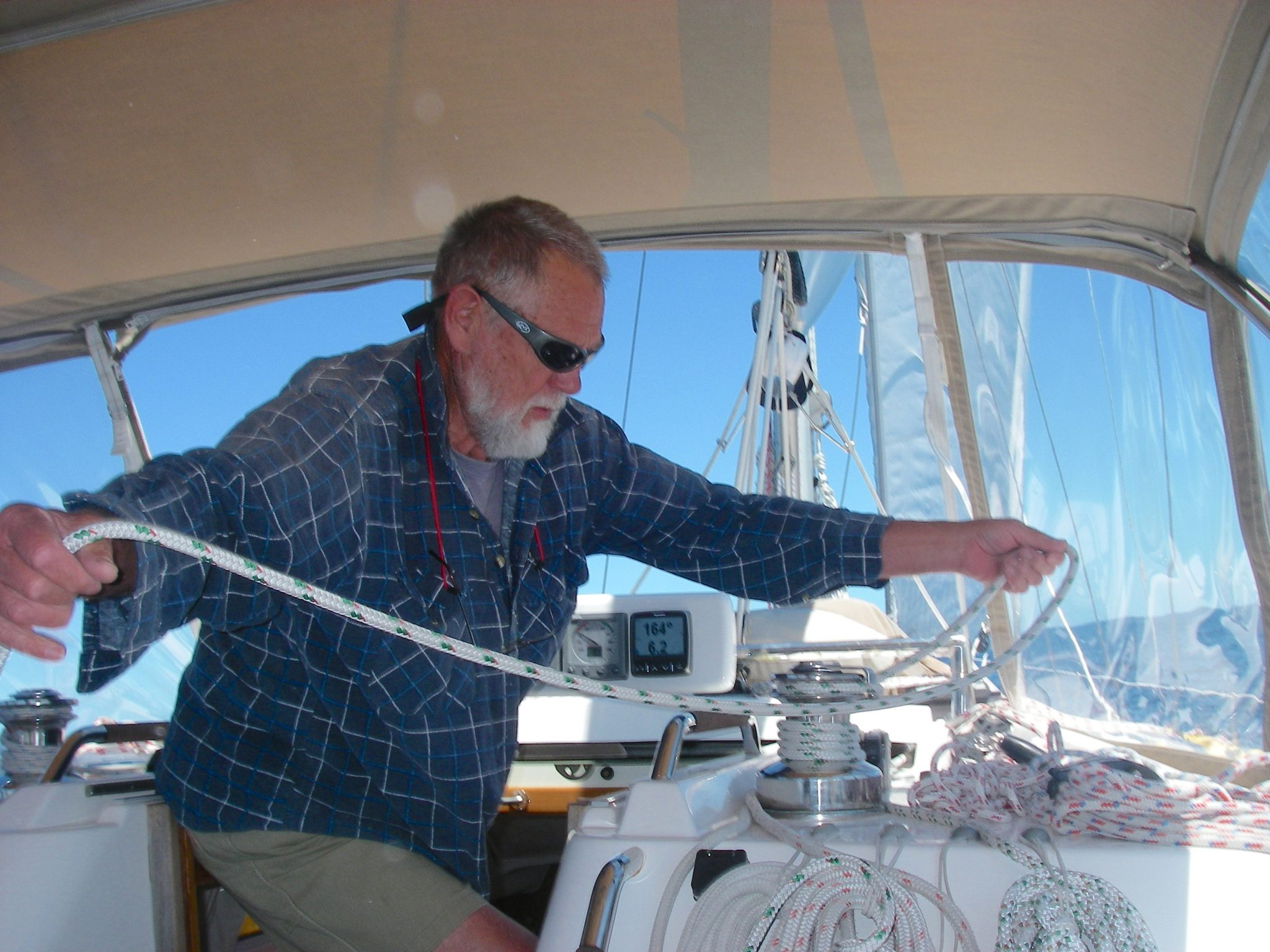 71. Rod helping with sailing Joyful