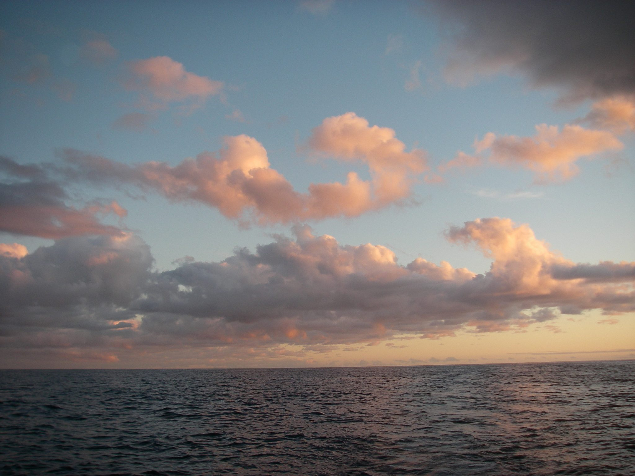 76. Another exordinarily beautiful sky greeted Joyful on the Tasman Sea